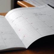 Blick in einen Kalender